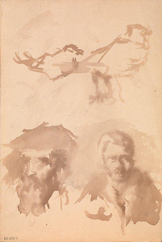 Pablo Picasso primeras obras. Croquis diversos. 1894-1895. 19 x 12,6 cm.