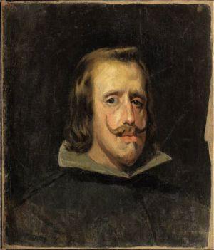 Pablo Picasso. Copia de un retrato de Felipe IV, pintado por Velázquez, 1.897-1.898. Óleo sobre tela. 54,2 x 46,7 cm.