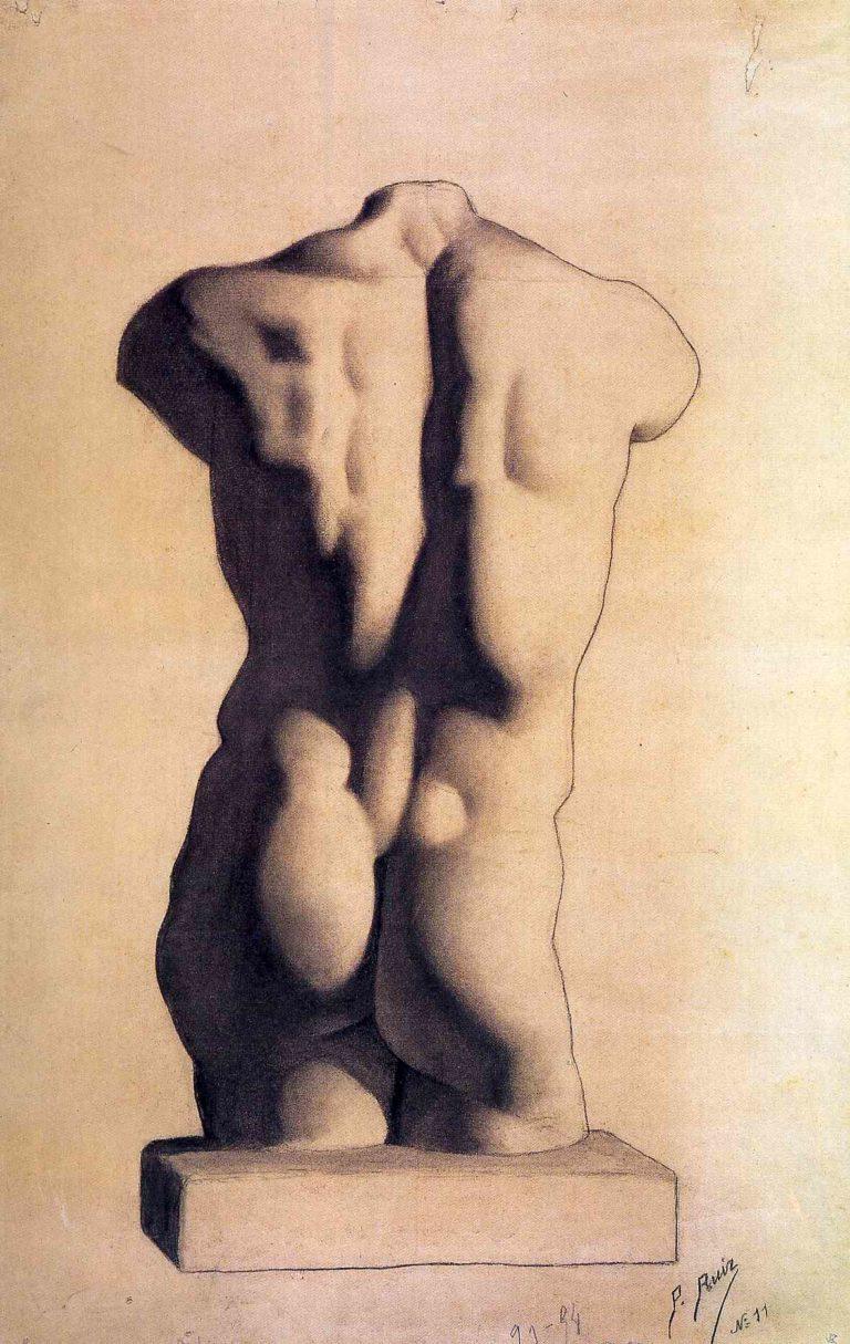 Picasso primeras obras, Estudio académico de torso, 1893.
