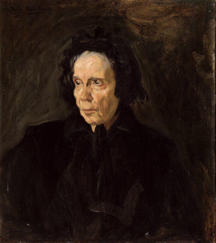 Pablo Picasso primeras obras. Retrato de la tía Pepa. Málaga, junio-julio, de 1896. Museu Picasso, Barcelona.