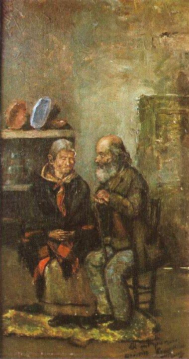 Picasso primeras obras, Pareja de ancianos, 1891.