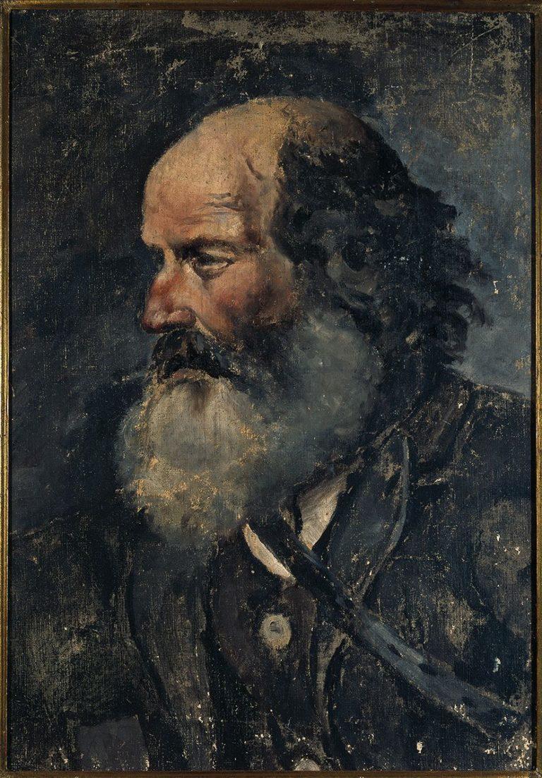 Picasso, Cabeza de viejo (Viejo peregrino), 1895.