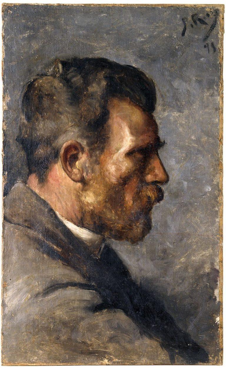 Picasso primeras obras, Don José Ruiz de perfil, 1895.