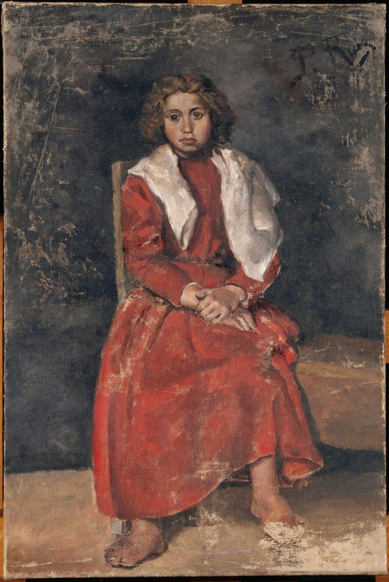 Picasso primeras obras, La muchacha de los pies descalzos, 1895.