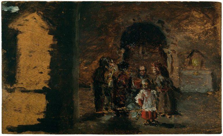 Picasso primeras obras, Responso por la muerte de Conchita, 1895. Museu Picasso, Barcelona.