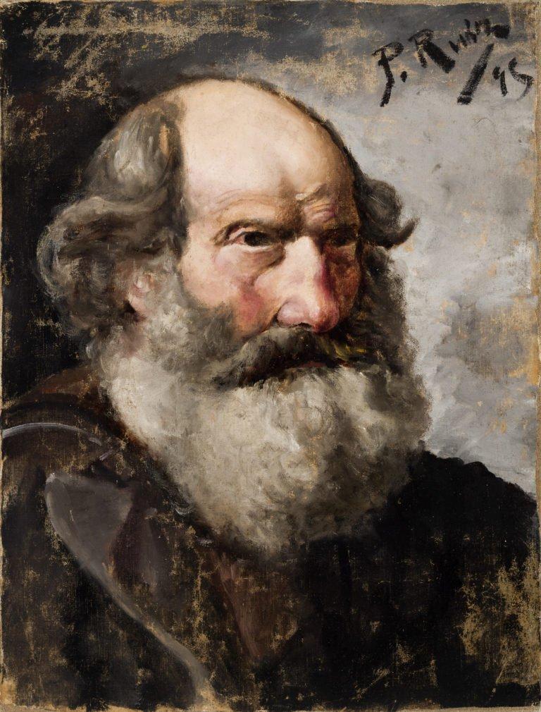 Picasso primeras obras, Retrato de anciano barbudo