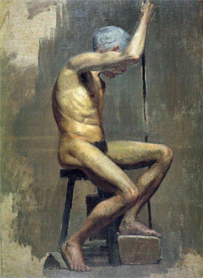 Picasso primeras obras, Estudio académico, 1895, 82x61cm. Museu Picasso, Barcelona.