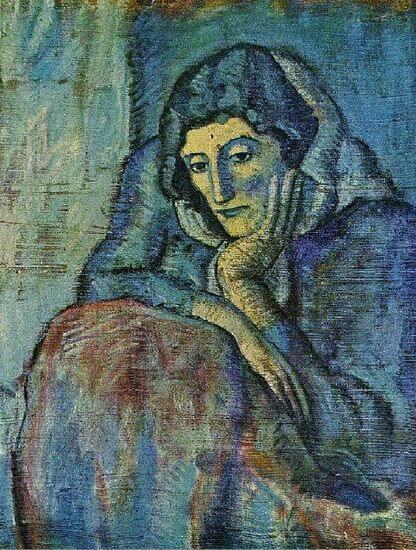 Periodo azul de Picasso, Mujer en azul, 1902.