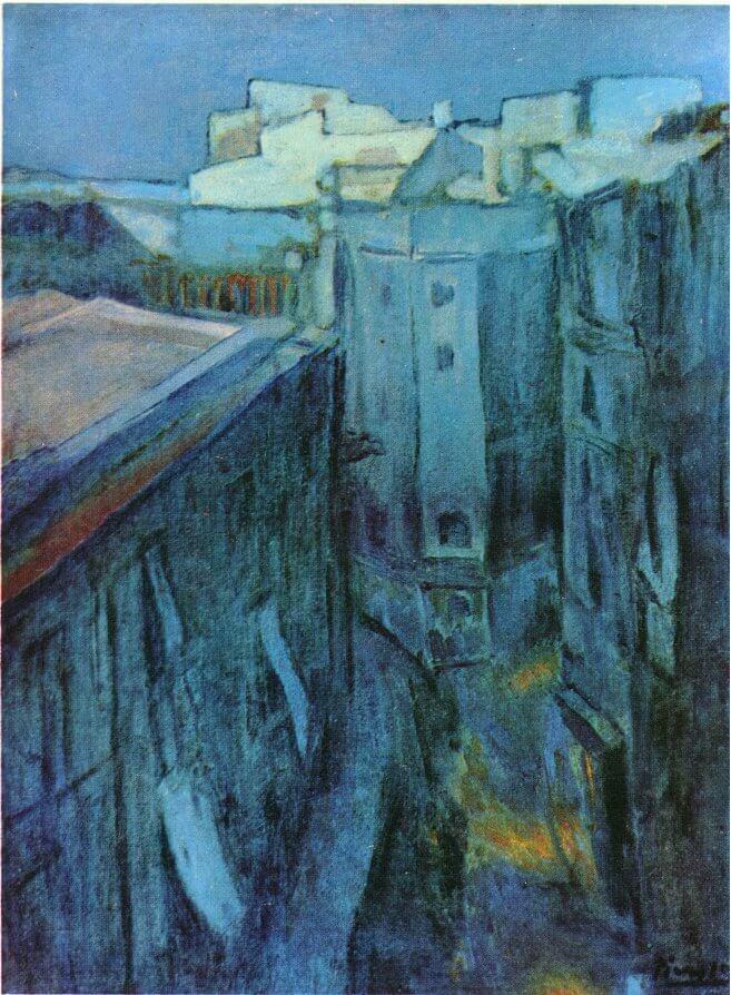 Picasso, Amanecer en la Riera de Sant Joan, 1903.
