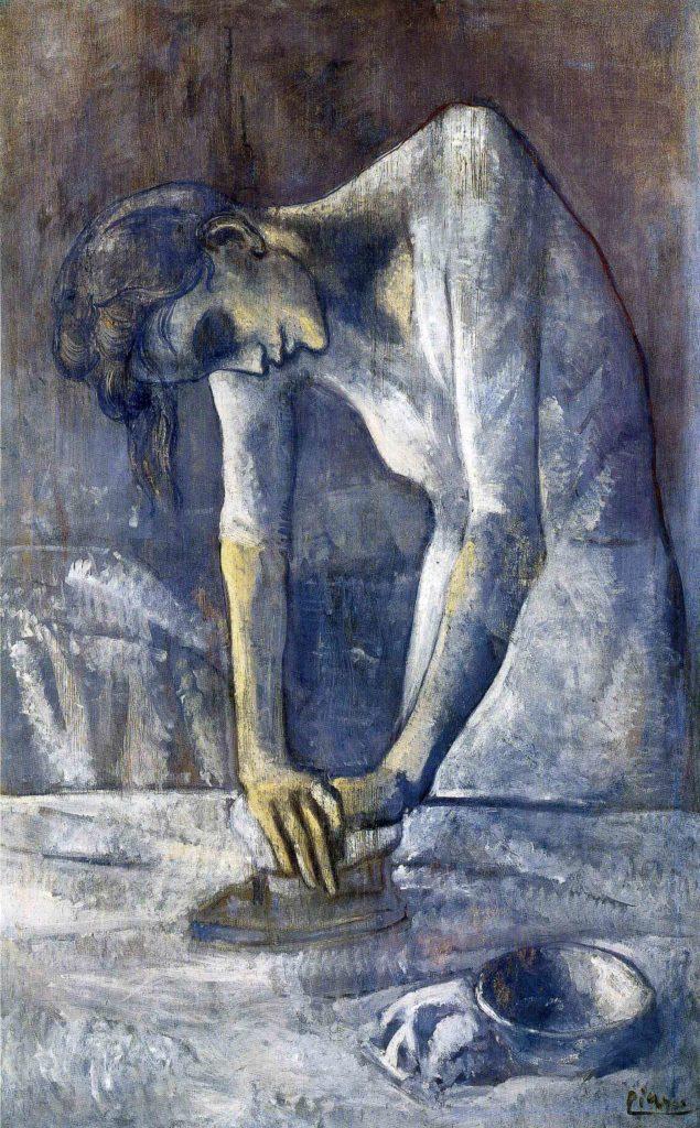 Periodo azul de Picasso, La planchadora, 1904.