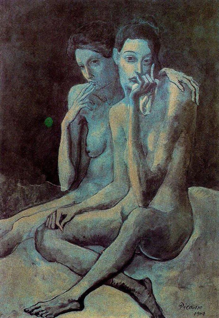Picasso, Las dos amigas, 1904.
