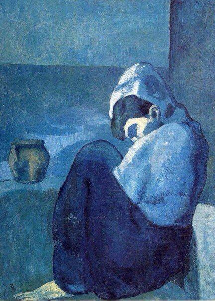 Periodo azul de Picasso, Mujer agachada, 1902