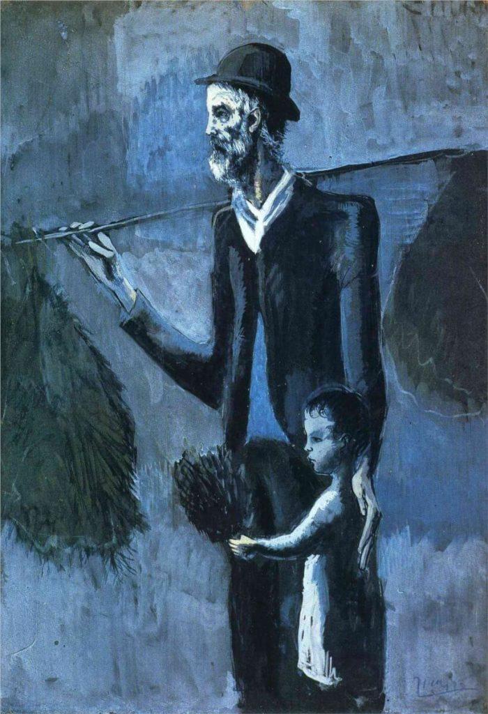 Picasso, El vendedor de muérdago, 1902/1903.