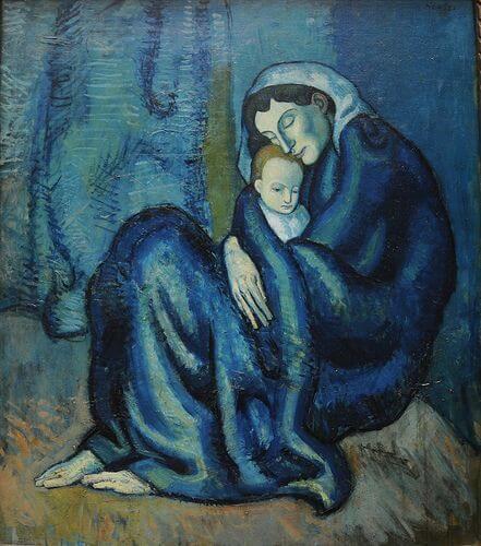 Periodo azul de Picasso, Maternidad, 1902.