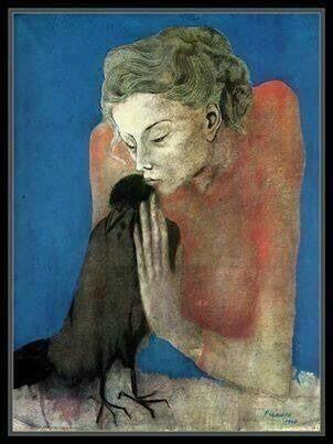 Picasso, La muchacha de la corneja, 1904.