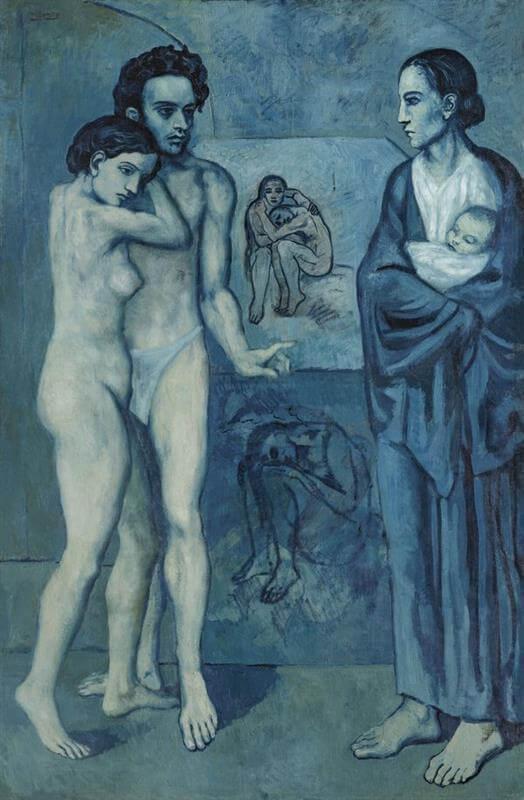 Periodo azul de Picasso, La vida, 1903.
