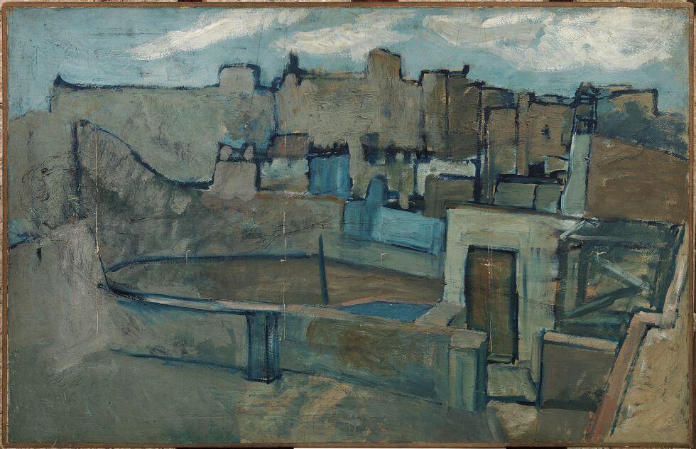 Periodo azul de Picasso, Azoteas de Barcelona, 1903.