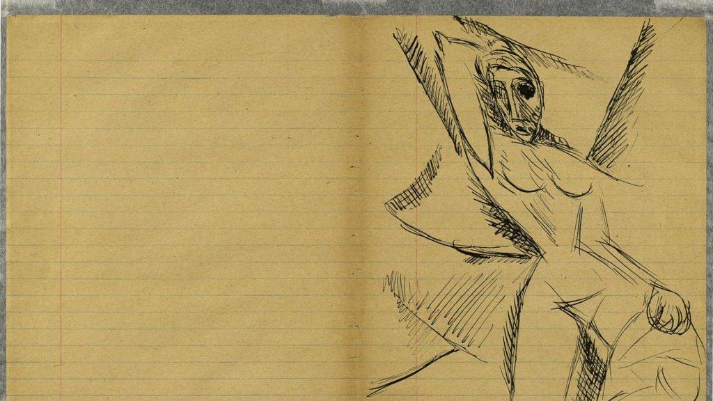 Picasso, página del cuaderno nº 5, Las señoritas de Avignon, 1907