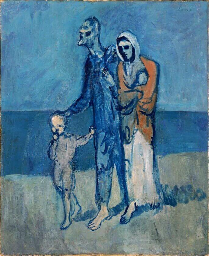 Periodo azul de Picasso, Figuras en el mar, 1903.