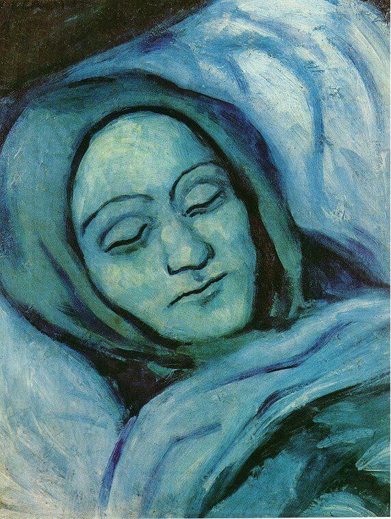 Periodo azul de Picasso, Rostro de mujer muerta, 1902