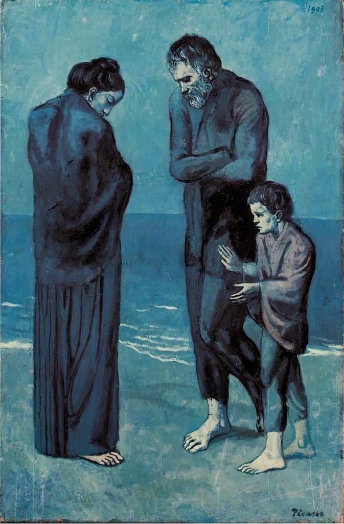 Periodo azul de Picasso, La tragedia, 1903.