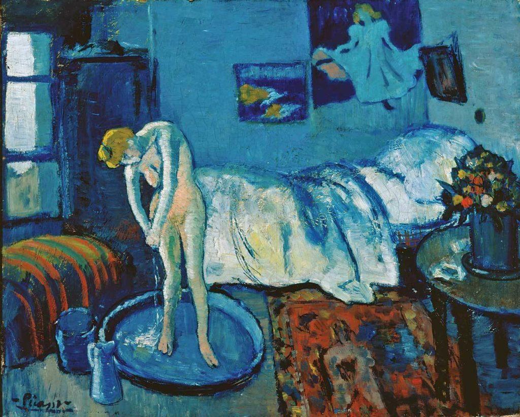 Periodo azul de Picasso, La habitación azul, 1901.