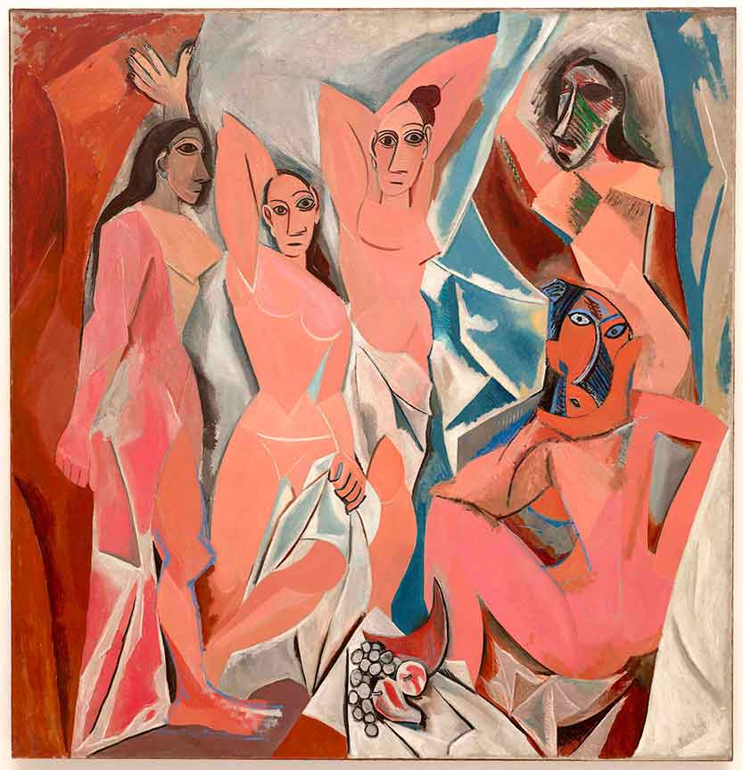 Las señoritas de Avignon, 1907. Museo de Arte Moderno de Nueva York.