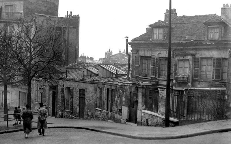 Le Bateau-Lavoir, hacia 1910.Las señoritas de Avignon