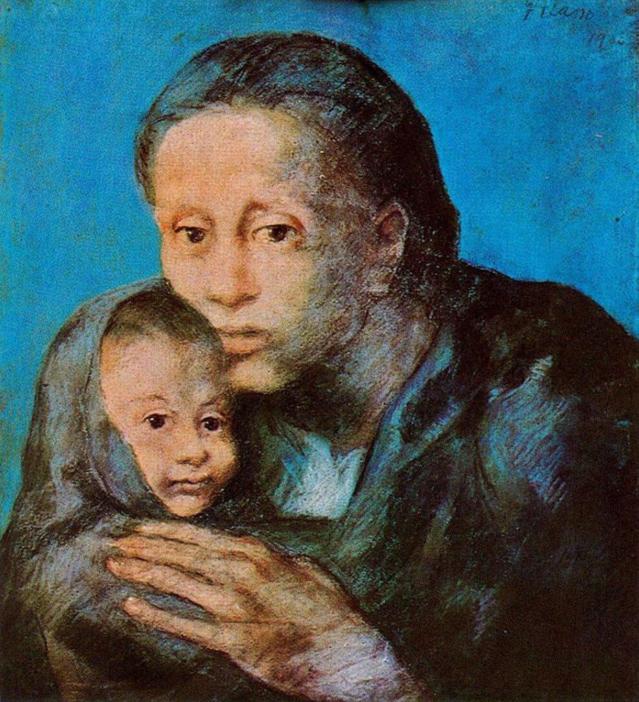 Periodo azul de Picasso, Desamparados, 1903.