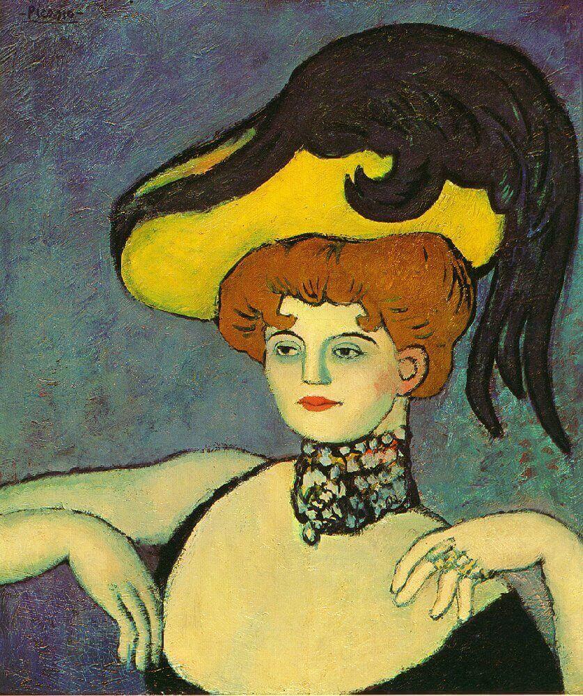 Picasso, Cortesana con collar de piedras preciosas, 1901.