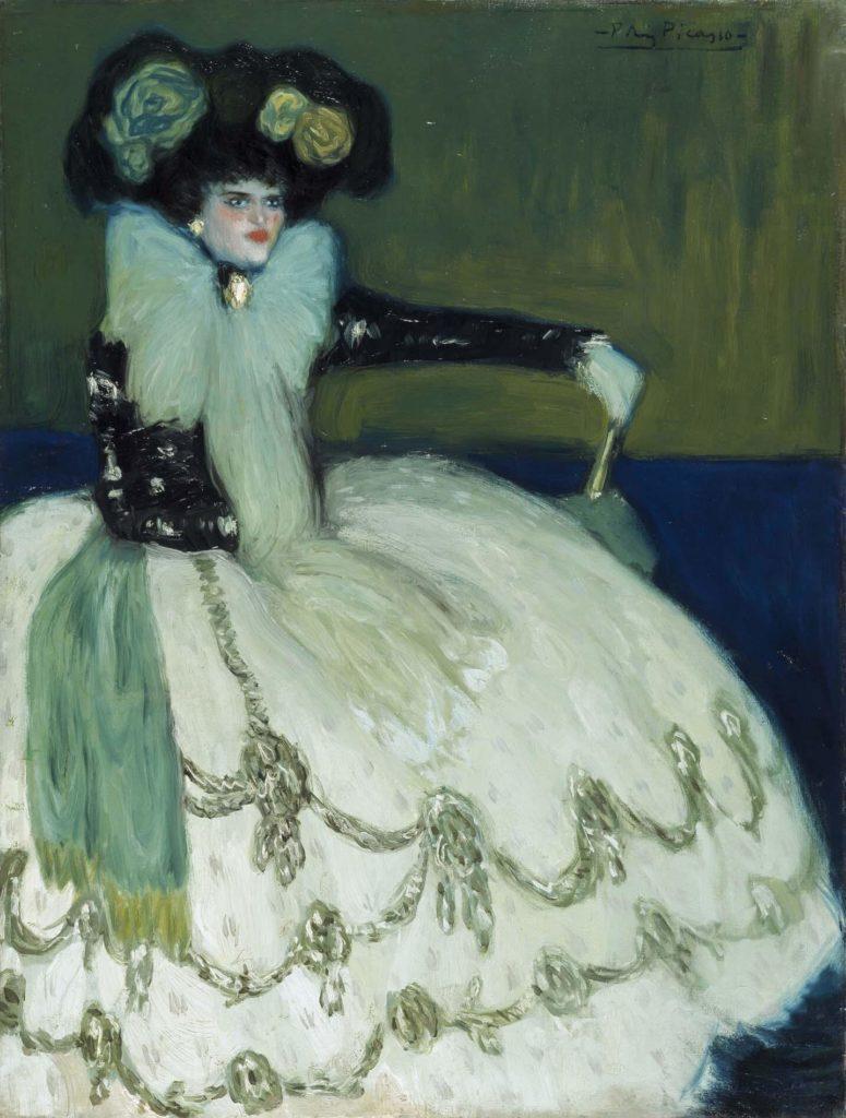 Periodo azul de Picasso, Mujer en azul, 1901.