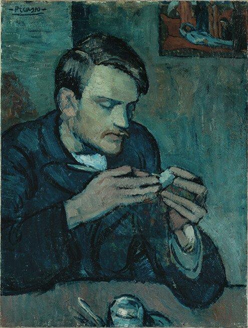 Periodo azul de Picasso, Retrato de Mateu F. de Soto, 1901.