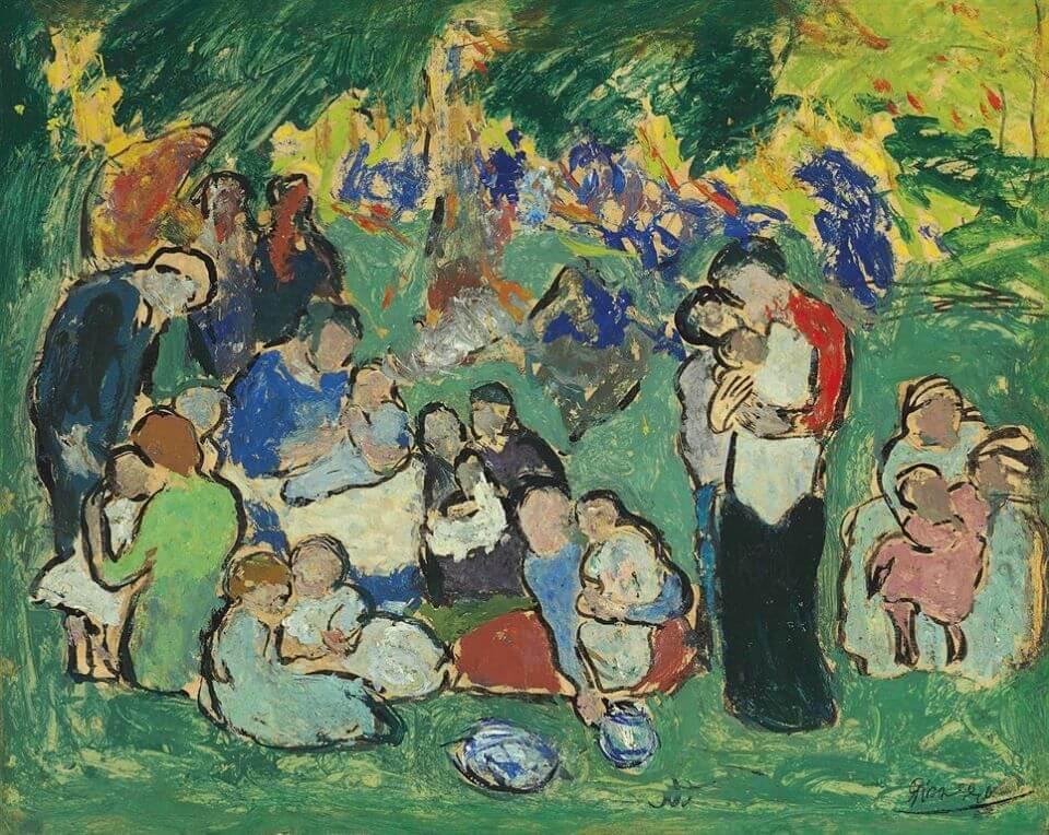 Picasso, Niños en el jardín de Luxemburgo, 1901.