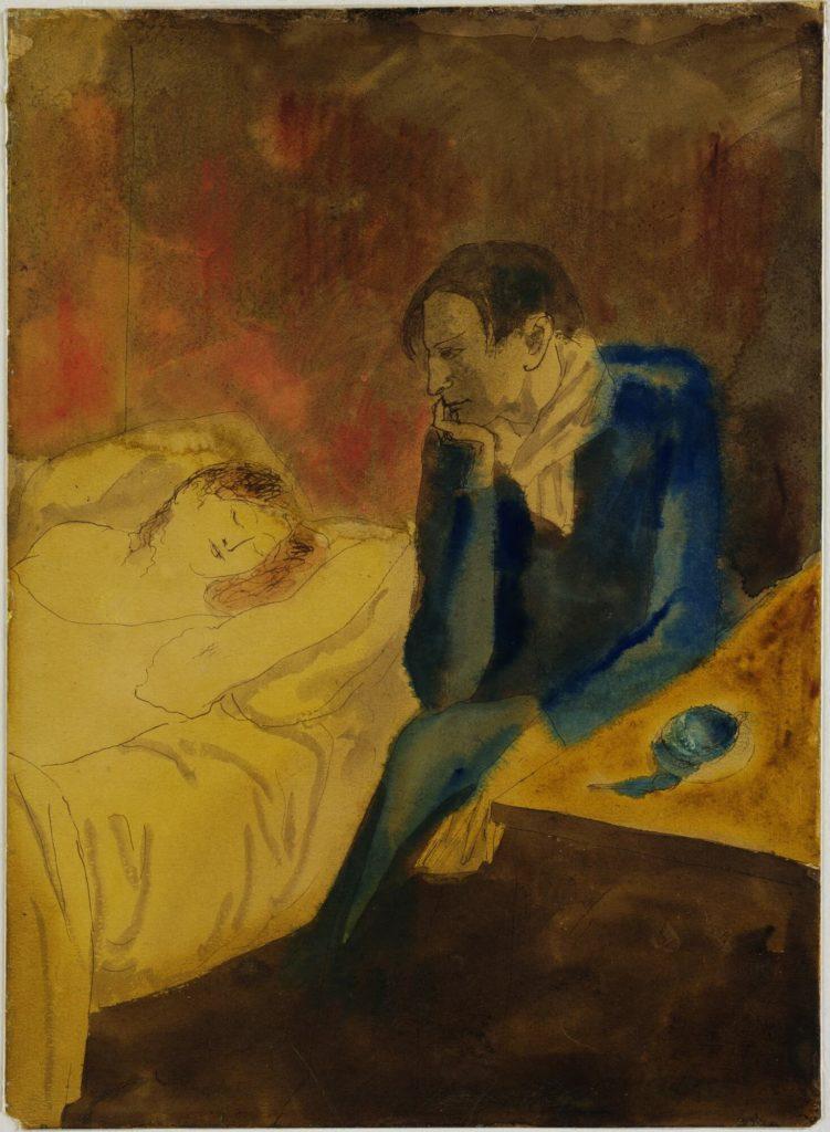 Picasso, Meditación (o Contemplación), 1904.