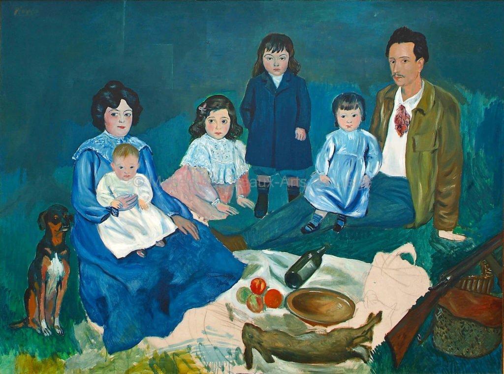 Periodo azul de Picasso, La familia Soler, 1903.