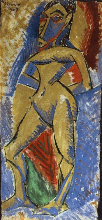 Picasso, Estudio para Las señoritas de Avignon, inspirado en Degas