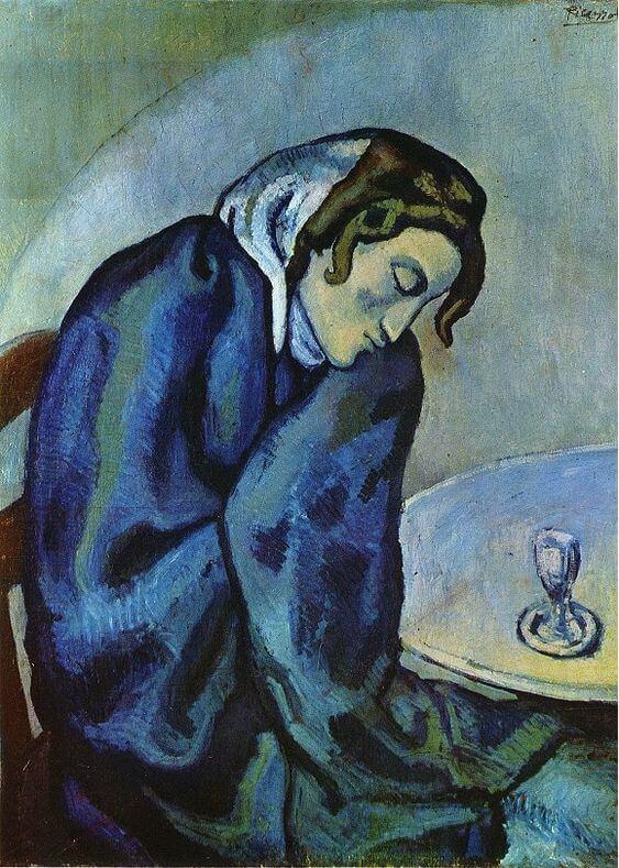 Periodo azul de Picasso, Bebedora de Absenta, 1902.