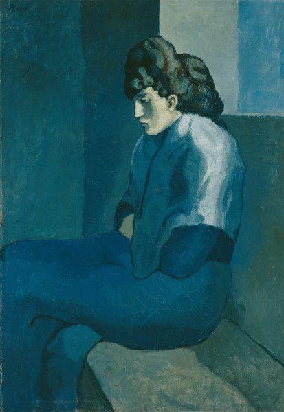 Periodo azul de Picasso, Mujer con los brazos cruzados,1902.