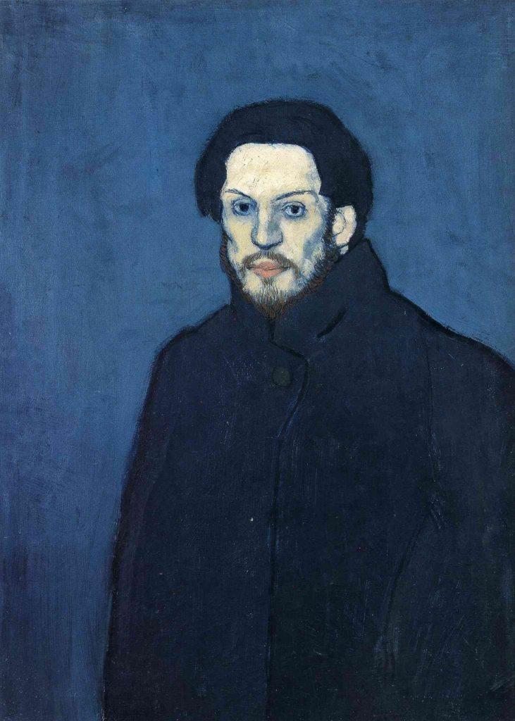 Periodo azul de Picasso, Autorretrato, 1901.