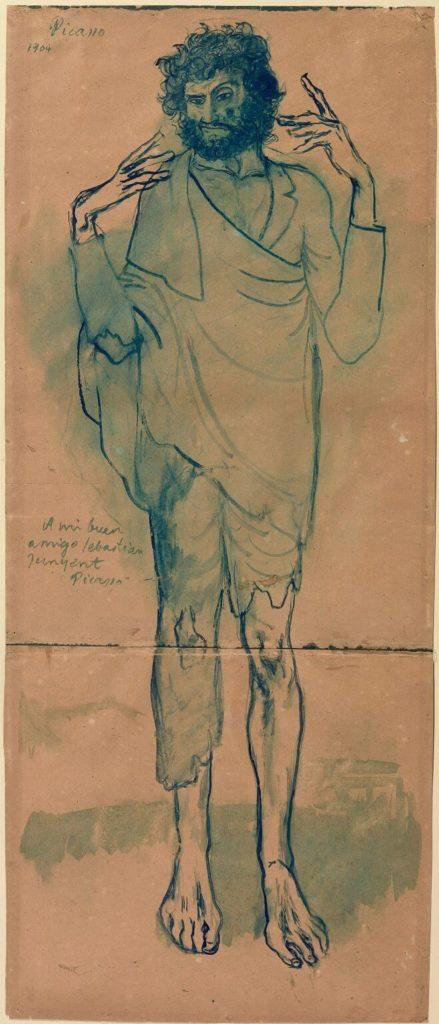 Periodo azul de Picasso, El loco, 1904