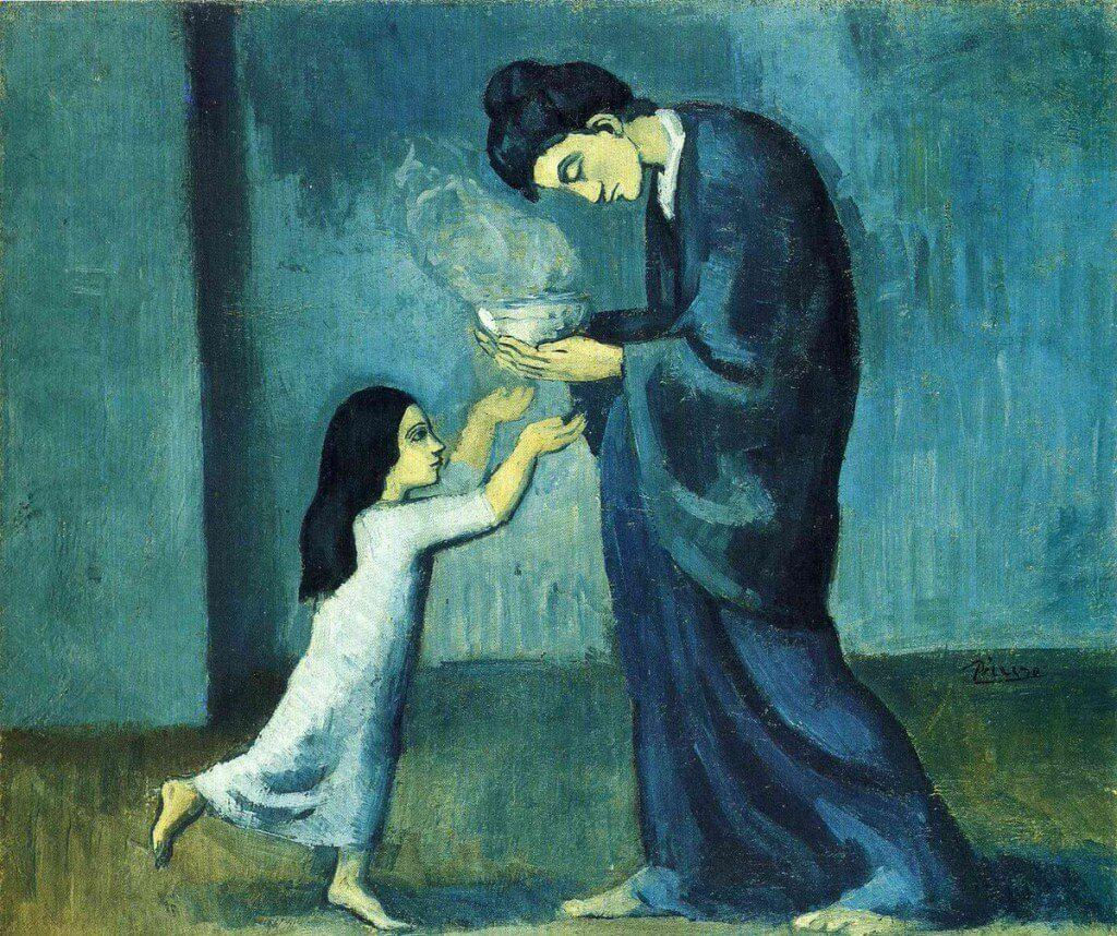 Picasso. La sopa, 1902-1903. Art Gallery of Ontario.