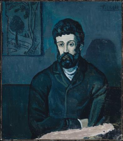 Picasso, Retrato de Mateu F. de Soto, 1901.