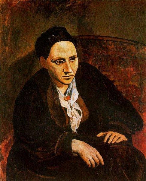 Picasso, Retrato de Gertrude Stein, 1906.