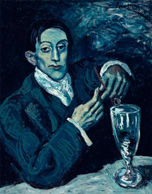 Periodo azul de Picasso, Retrato de Ángel F. de Soto, 1901.