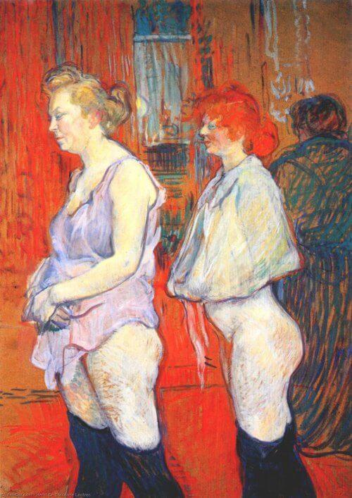 Toulouse Lautrec, La inspección médica, 83,5x 61,4 cm. 1894.