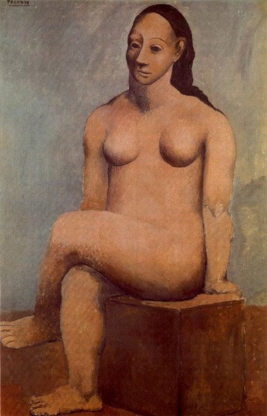 Picasso, Mujer desnuda sentada, 1906