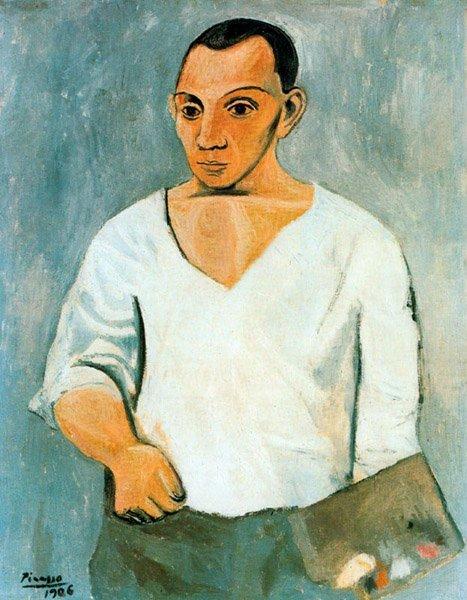 Picasso, Autorretrato con paleta, 1906.