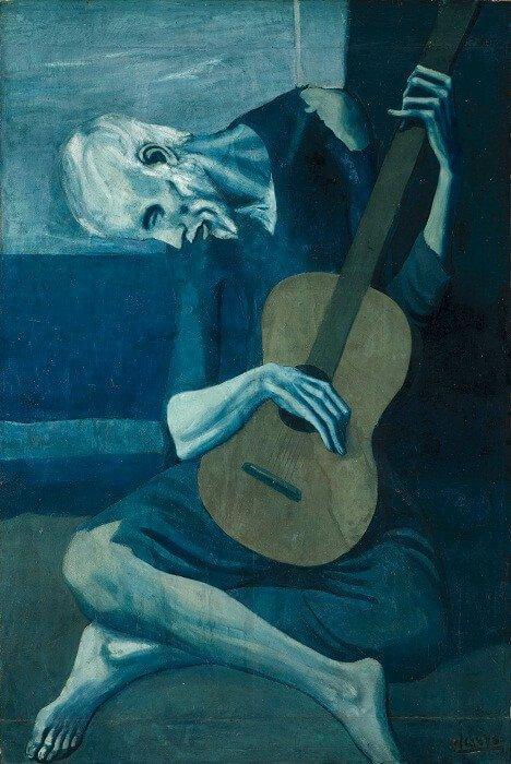 Periodo azul de Picasso, El asceta, 1903.