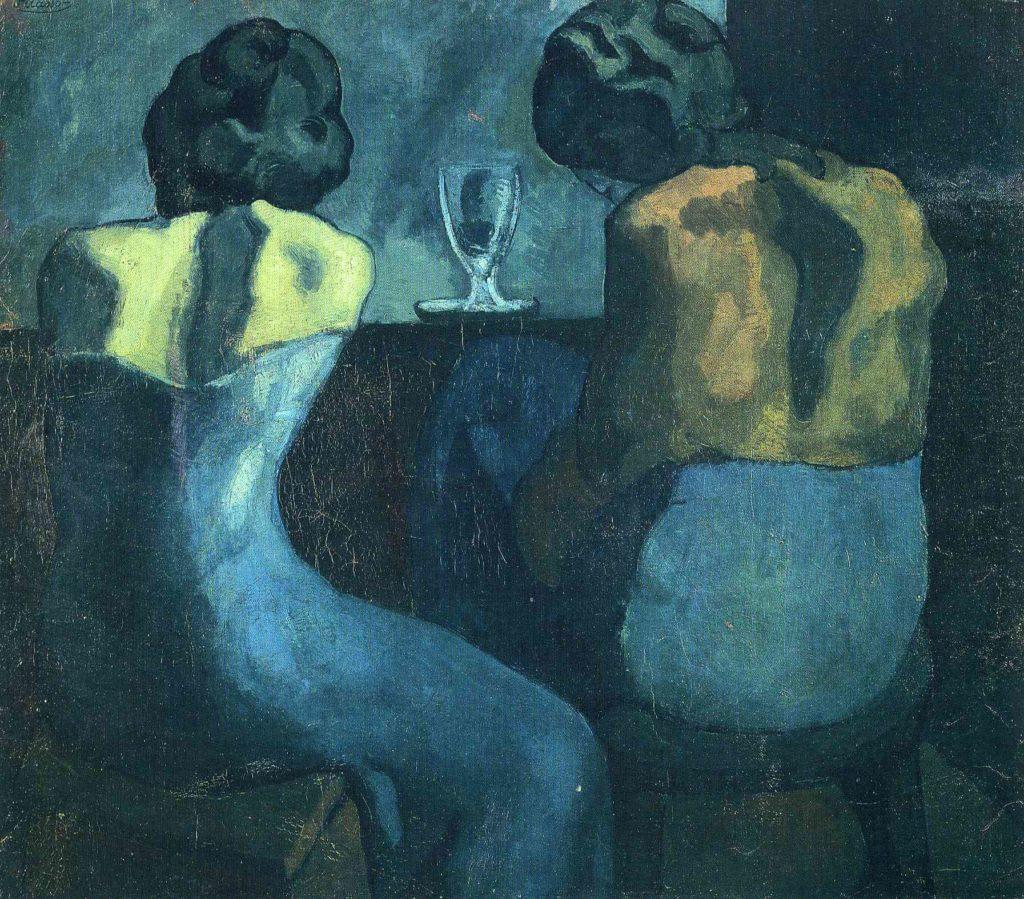 Periodo azul de Picasso, Prostitutas en el bar, 1902.