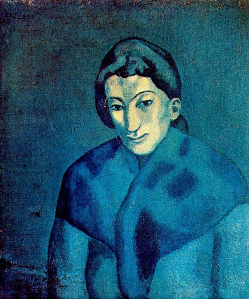 Periodo azul de Picasso, Mujer con chal, 1902